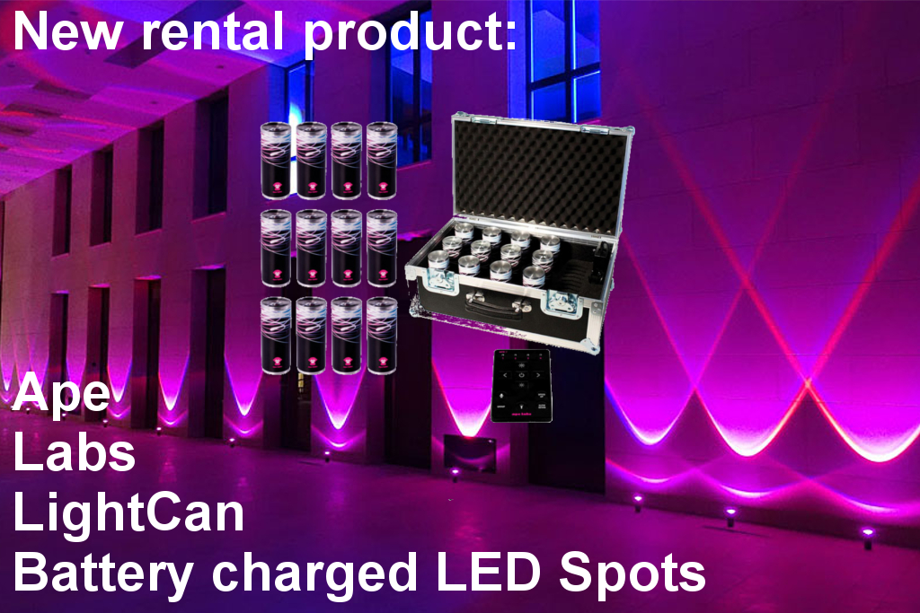 Rechargeable battery lights from Ape Labs Light Can rental in Frankfurt